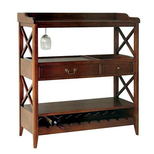 Wayborn Home Furnishing 9113 Eiffel Wine Storage Console, Brown Wayborn - DROPSHIP