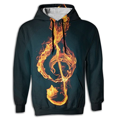 Love Music Men's Adult Print Hoodies Cozy Drawstring Pockets Pullover Hooded Sweatshirt Prime Exclusive ()
