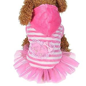 Kstare Winter Cute Fashion Pet Dog Clothes Velvet Dress (S, Pink)