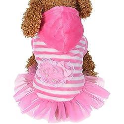 Pet Winter Clothes Cinsanong Fashion Cute Velvet for Dog Lovely Puppy Dress