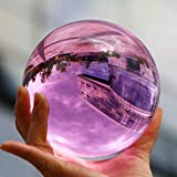 KEENICI 60mm Photograph Crystal Ball with Stand