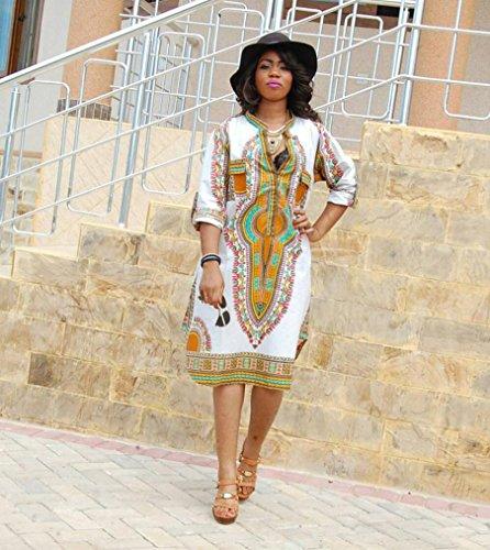 4f42a946dc3 BEAUTYVAN African Print Women Dress 2018 Women Boho Dress New Women Summer  Casual Deep V-