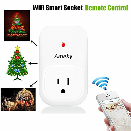 Ameky-WiFi-Timer-Plug-Remote-Control-Sockets-Programmable-Electrical-Outlet-Switch-Smart-Socket-Controlled-Via-AndroidiOS-APP-US-Standard-Smart-Home-Automation-with-3-Modes-White