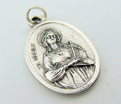 Amazon saint cecilia cecily patron st of music pray for us saint cecilia cecily patron st of music pray for us inspirational charm pendant mozeypictures Choice Image