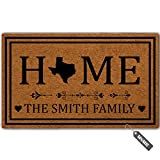 MsMr Personalized [Your Name] Door Mat Indoor Outdoor Custom Doormat Decorative Home Office Welcome Mat Texas Door Mat 23.6' x 15.7'