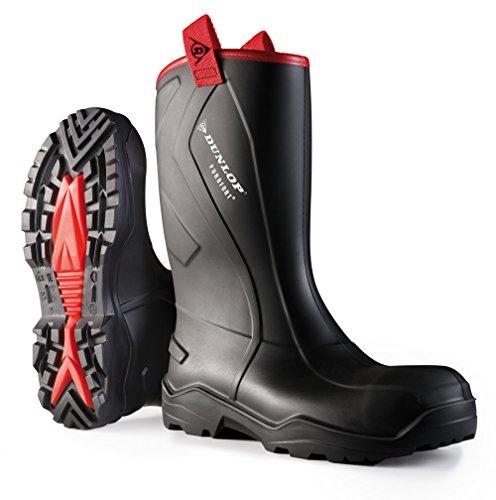 Dunlop PUROFORT + irrobustito sicurezza completa da uomo industriale lavoro Wellington uk6-14 Black