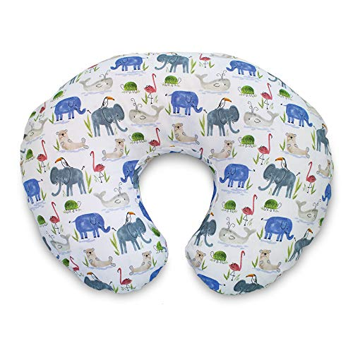 Boppy Original Nursing Pillow Slipcover Cotton Blend Fabric, Watercolor Animals