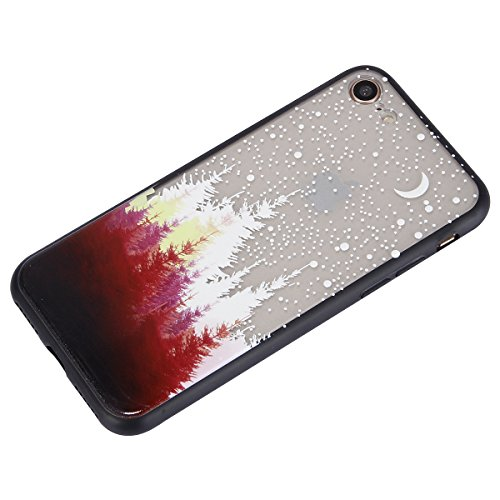 Carcasa para Apple iPhone 7, Funda para Apple iPhone 8,Surakey Suave Carcasa Caso Parachoques Diseño pintado Patrón (Pluma /Panda/Gato/Mandala/Flor de encaje/Bosque/Alpaca)para Apple iPhone 7/8 ,iPhon Bosque