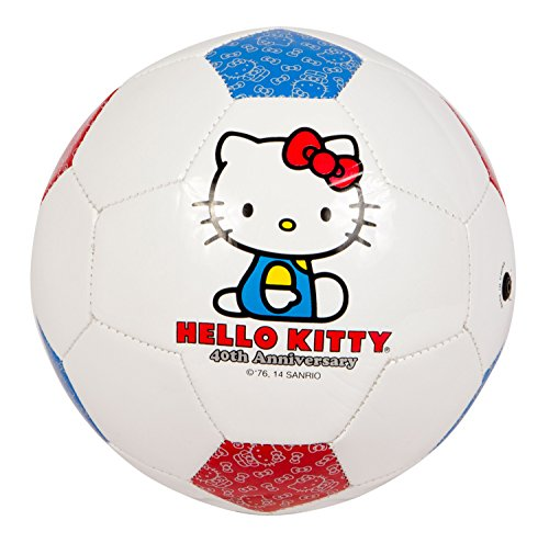 Hello Kitty Sports 40th Anniversary Soccer Ball, Red/Blue/White, Size 4