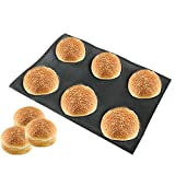 silicone mold for bakery - Bluedrop Silicone Bun Bread Form Round Shape Bread Tray Perforated Bakery Molds