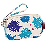 Bungalow360 Womens Canvas Coin Pouch Wallet (Puffer Fish)