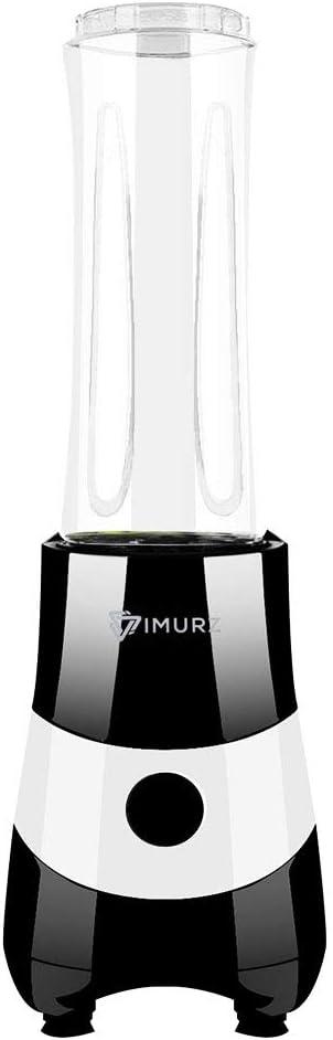 Mini batidora para smoothies y batidos, mini batidora de zumo con 2 Tritan Leakproof Licuadora sin BPA de 600 ml para oficina, fitness, picnic, 350 W