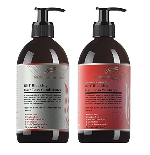 HAIR RESTORATION LABORATORIES' PROFESSIONAL STRENGTH DHT BLOCKING HAIR LOSS SHAMPOO & CONDITIONER SET-OVER 30 DHT BLOCKERS; THE MOST EFFECTIVE HAIR LOSS SHAMPOO & CONDITIONER FOR MEN & WOMEN For Sale