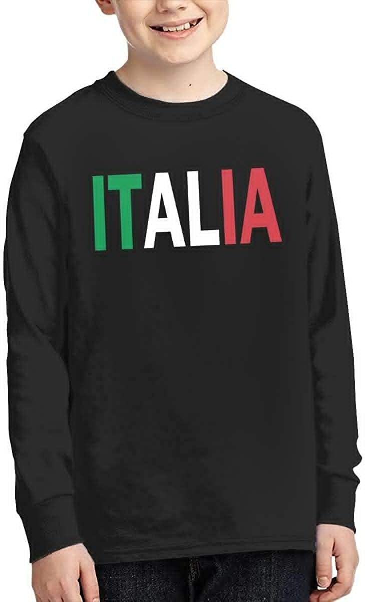 Teenagers Teen Girls Italia Printed Long Sleeve 100/% Cotton T Shirts