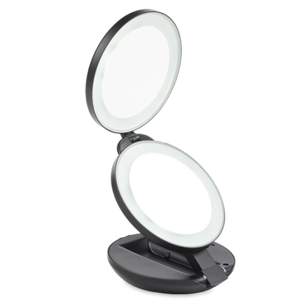 durable service LED portable makeup mirror and Cirrus mirror/5[Times magnifying mirror]/30 percent of desktop mirror/ the gift of beauty mirror-B