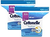 Cottonelle FreshCare Flushable Cleansing Cloths nXPnF, 2 Individual bags containing 168 wipes per bag