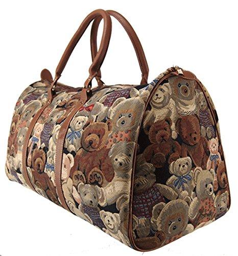 Weekend Reisetasche / Gepäck Tasche / Reisetasche (groß) Teddybär - Royaltex Gobelin Stil