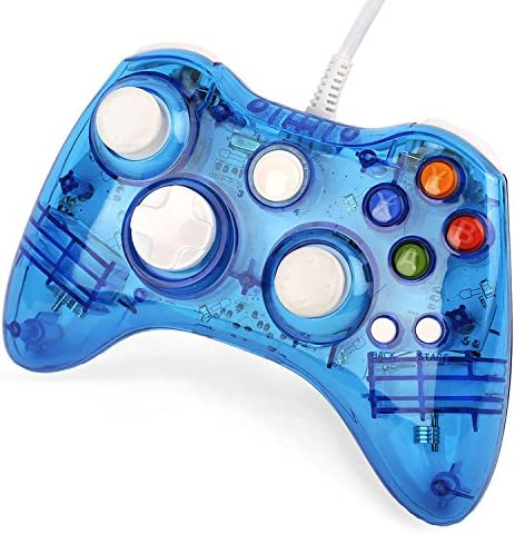 Three Legs USB Wired Gamepad Game Pad Controller For Xbox 360 PC Windows Transparent Blue [Importación Inglesa]: Amazon.es: Videojuegos