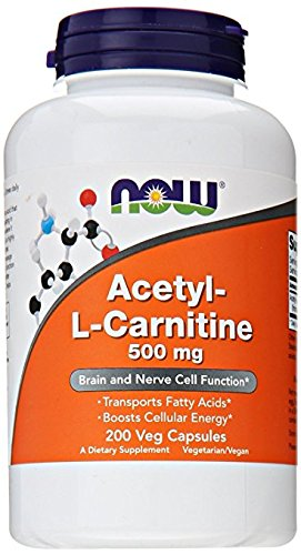 NOW Foods Acetyl L-Carnitine 500mg, kbd3hr Pack of 400 Vcaps Total NOW-ha by NOW Foods