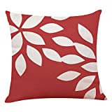 Chenway Red Geometric Style Throw Pillow Case, Pillowslip Zipper Cushion Festive Decoration CaseCover for Sofa Living Room Home Decor (B)