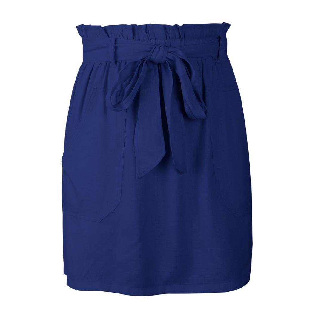 Spbamboo Clearance Sale! Womens Casaul Pocket Pure Color High Waist Summer Skirt by Spbamboo (Image #6)