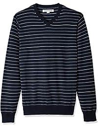 Men's V-Neck Stripe Sweater