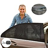#2: Saimly Universal Car Side Window Sun Shades, Sun, Glare And UV Rays Protection For Your Child , Fits All (99%) Cars! Set of 5