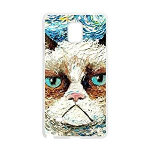 Aggrieved White cat Cell Phone Case for Samsung Galaxy Note4 by icecream design