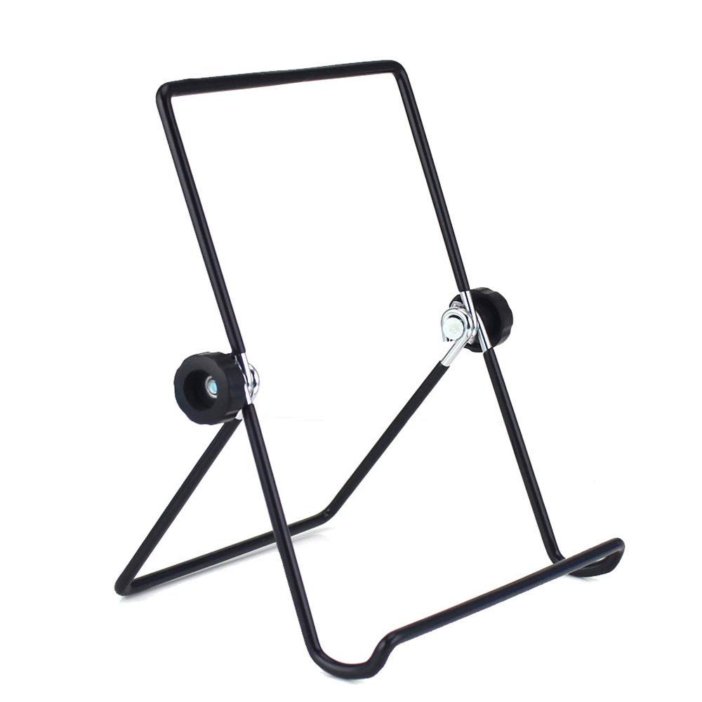 Tablet Holder Stand, Universal Multi-angle Non-slip Adjustable Holder Cradle for 9 - 10.1 Inch Tablet PC, Pad (Black)
