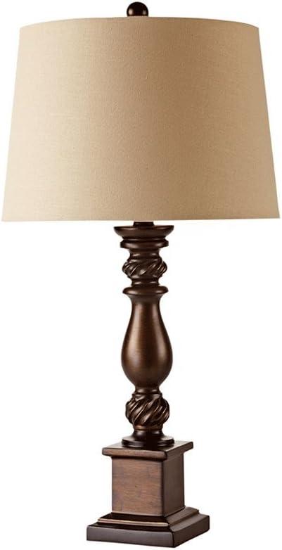 Tian Heng Xin Schlafzimmer Nachttisch Lampe Wohnzimmer Europäischen Retro 30cm 61cm Braun E27 Beleuchtung