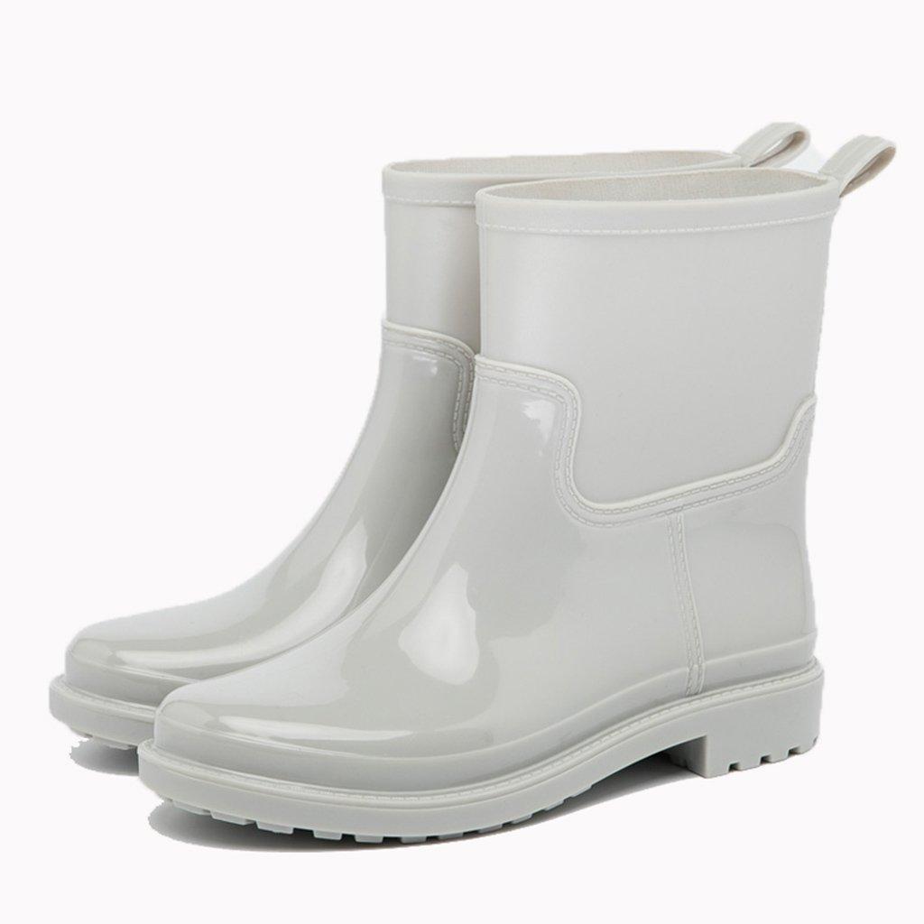 Mode Wasserdicht Regen Stiefel, Frühjahr und Sommer Neue Mode Rohr Wasserdichte Stiefel Anti-Rutsch-Wasser Schuhe Schuhe Gummischuhe Erwachsene Stiefel Frauen (Farbe : E, Größe : 37#)
