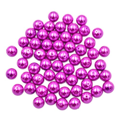 AD Beads Top Quality Czech Glass Pearl Round Loose Beads 3mm 4mm 6mm 8mm 10mm 12mm (12mm (100 Pcs), Fuchsia)