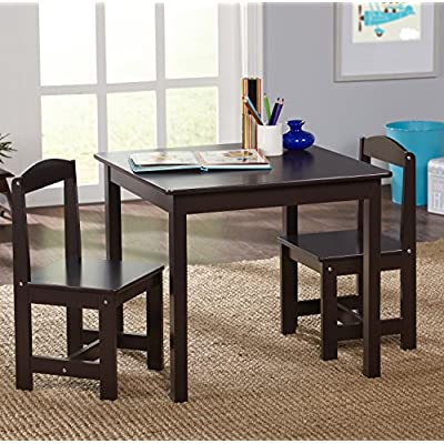 Target Marketing Systems Hayden Kids Table And Chairs, Espresso: Kitchen & Dining
