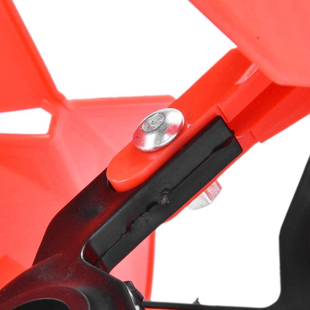 Negro 22mm 7//8 Universal Motocicleta ABS Guardamanos Manillar Protector para Moto ATV Dirt Bike Suzuki Kawasaki Honda Yamaha KTM BMW Ducati