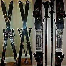 "Olin DXt 78"" Snow Skis and Scott 47"" Aluminum Ski Poles Pair Set"