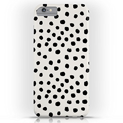 (Roses Garden Phone Case Protectivedesign Cell Case Preppy Brushstroke Free Polka Dots Black And White Spots Dots Dalmation Animal Spots Design Minimal Slim Case iPhone 6s Plus)