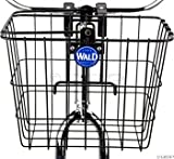 Wald 3114 Compact Front Quick Release Bicycle Basket with Bolt on Clamp (11.75 x 8 x 9, Black)