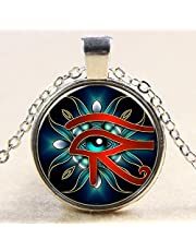 Necklace of metal by form the Eye of Horus silver color Item No 930 - 3