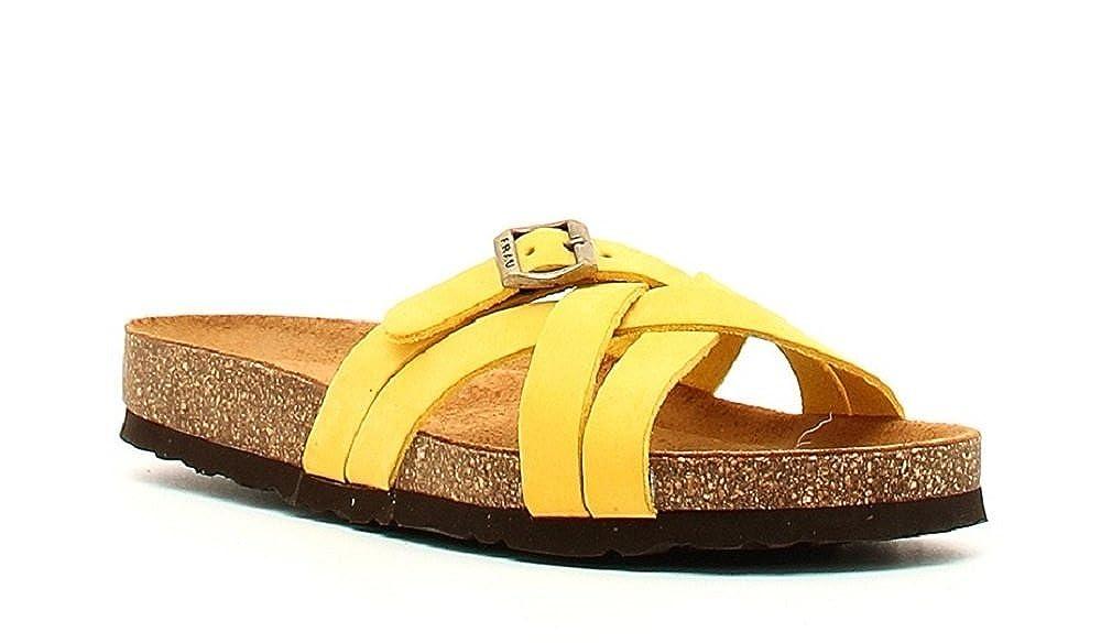 FRAU , Damen Sandalen gelb gelb 15, gelb - gelb - Größe  38 EU  Amazon.de   Schuhe   Handtaschen 5078c86b5d