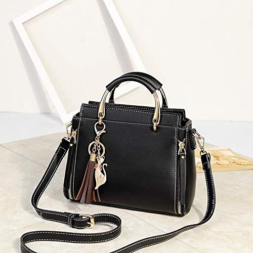 Maerye Europea e americana puro colore grande capacità singola spalla obliqua borsa borsa da donna B