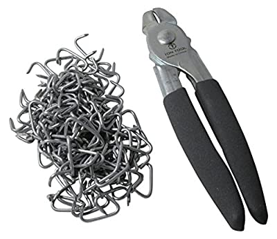 ION TOOL Hog Ring Pliers & 150 Galvinized Hog Rings, Professional Upholstery Installation Kit