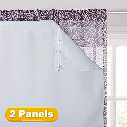 KGORGE Thermal Insulated Blackout Liners - Black Out Curtain Liners for 84 inches Drapes, Light/Heat/Sun Blocking Liner Curtains (2 Panels, 27