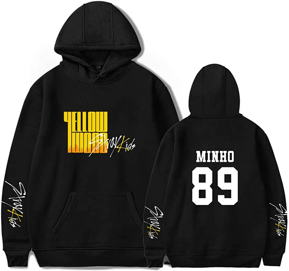 Enjoyyourlife Sweats Stray Kids Yellow Wood Sweats /à Capuche Signature Pulls pour Les Fans Hommes Femmes Sweat-Shirts /à Manches Longues Hoodie