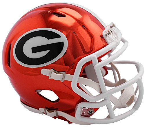 Georgia Bulldogs NEW 2018 Alternate Chrome NCAA Riddell SPEED Mini Helmet