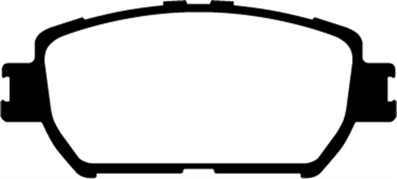 EBC Brakes DP31642C Redstuff Ceramic Low Dust Brake Pad