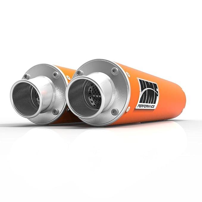 Filtro de aire de espuma de uni & HMF naranja performance-series doble Slip On escape turn-down-brushed para KTM 990 Adventure 2007 - 2008: Amazon.es: Coche ...