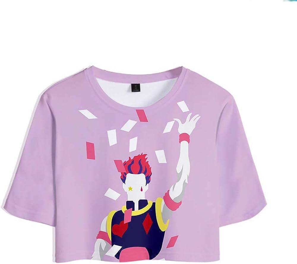 Womens Casual Hisoka-Face Hunter X Hunter Anime T Shirts Tops Short Sleeve Soft Blouse T-Shirt Asian Size