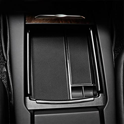 R RUIYA Customized for Tesla Model X Model S 2016 2017 2018 Car Center Console Armrest Box Glove Box Secondary Storage Console Organizer Insert Tray Key Fob Cover Tesla Model X