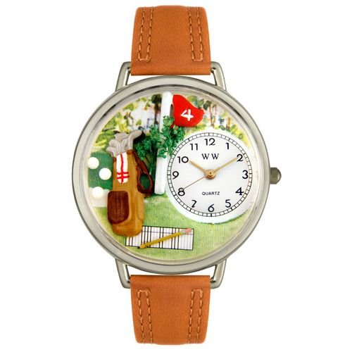 Whimsical Watches Unisex U0810002 Golf Bag Tan Leather Watch