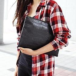 JD Million shop New Women's Shoulder Bag Ladies Fashion Leather Envelopes Crossbody Bags Crocodile Pattern Mini Lady Mobile Phone Bag